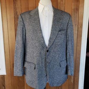 Vintage Gardiner Of Selkirk Silk & Wool Blazer